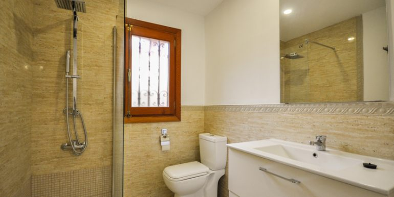 Bathroom with shower, all new